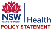 NSW Health policy statement